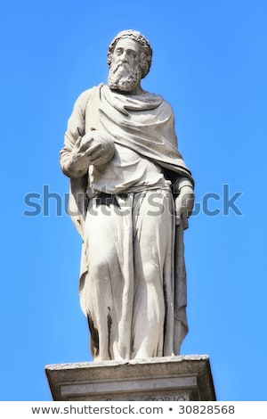 statue of Fracastoro in piazza Signoria, Verona Stock photo © vladacanon