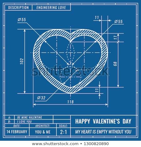 Mechanical Valentine heart Stock photo © Elmiko