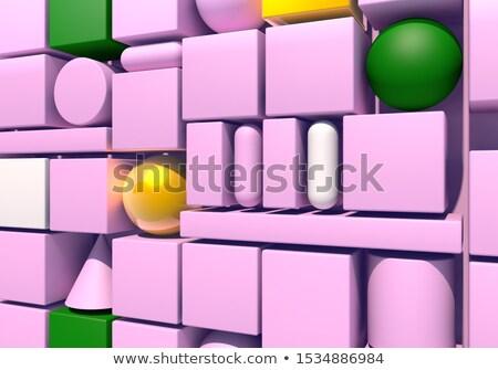 Absztrakt 3d render többszörös rózsaszín henger háttér Stock fotó © Melvin07