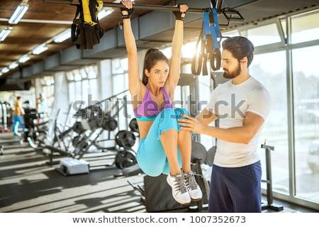 Personal trainer jimnastikçi uygunluk eğitmen oluşturucu Stok fotoğraf © lovleah