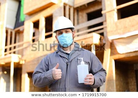 Oluşturucu mesafe Bina inşaat mavi Stok fotoğraf © photography33