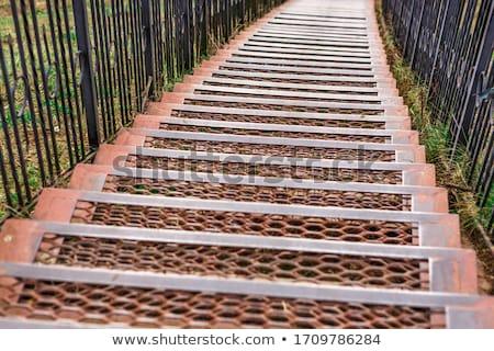 old rusty iron staircase Stock photo © sirylok