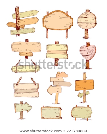 vector wooden pointer illustration stock photo © orson
