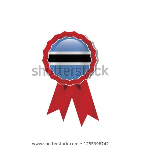 Ботсвана флаг подробный шелковые eps10 спорт Сток-фото © milsiart