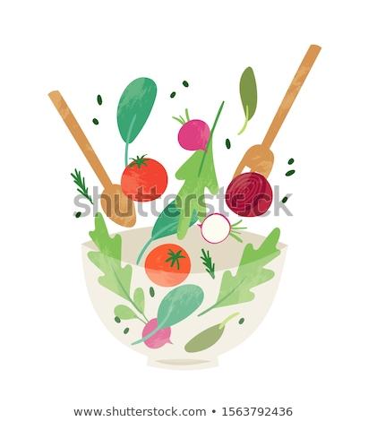 fresco · saboroso · misto · salada · diferente · legumes - foto stock © juniart