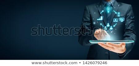 Negócio esboço tecnologia assinar rede pintura Foto stock © kash76