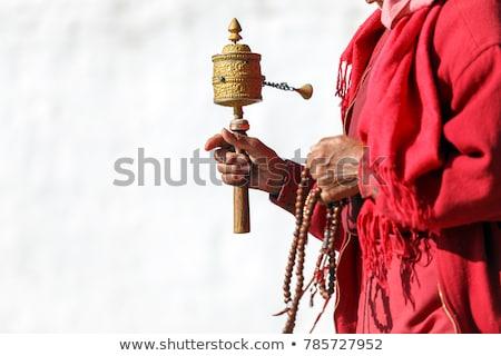 oração · rodas · macaco · templo · vida · roda - foto stock © bbbar