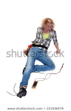 Elettriche shock donna ragazza faccia occhi Foto d'archivio © photography33