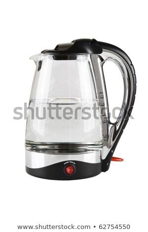 Сток-фото: современных · чайник · изолированный · кофе · синий