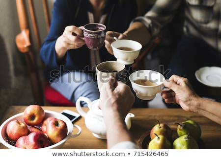 chá · amigo · dois · feliz · jovem - foto stock © rosipro