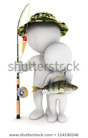 gancho · 3D · imagem · peixe · pescaria · isolado - foto stock © digitalgenetics