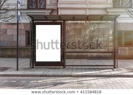 ilan · panosu · otobüs · durağı · reklam · şehir · yol · sokak - stok fotoğraf © lightsource