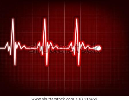 Heart cardiogram with shadow. EPS 8 Stock photo © beholdereye