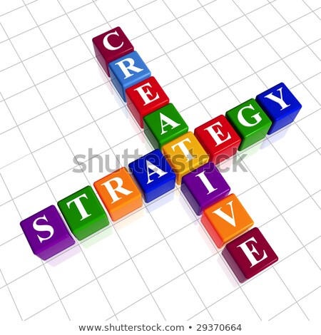 competence in color cubes Stock photo © marinini