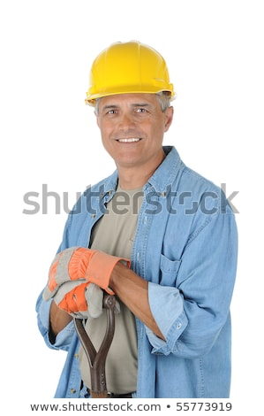 Grey-haired man with shovel Stock photo © photography33