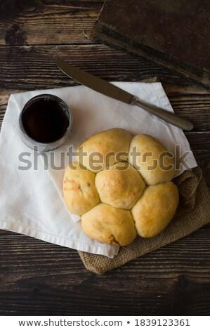 ręcznik · nóż · rustykalny · pszenicy · żywności · złota - zdjęcia stock © Rob_Stark