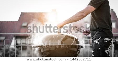 Rooftop Grillin' Stock photo © eldadcarin