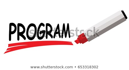 Sharing Concept Red Marker Stock photo © ivelin