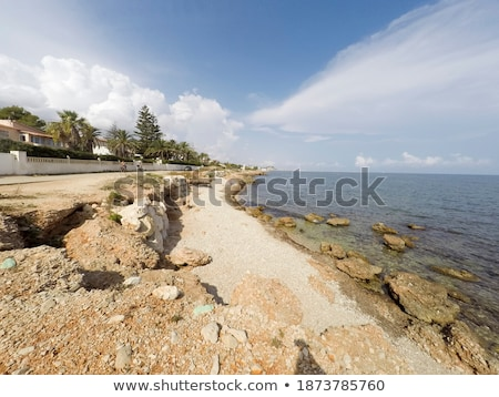 Stok fotoğraf: Alicante Province Mediterranean Blue Sea Seascape In Denia Spain