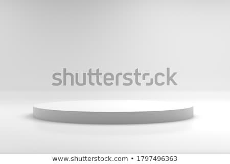 vencedores · prêmio · pódio · isolado · branco · etapa - foto stock © lenapix