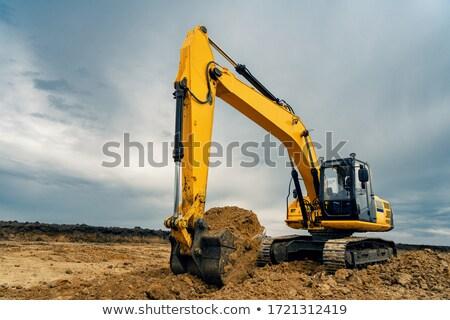 Giallo bulldozer campo Foto d'archivio © stevemc