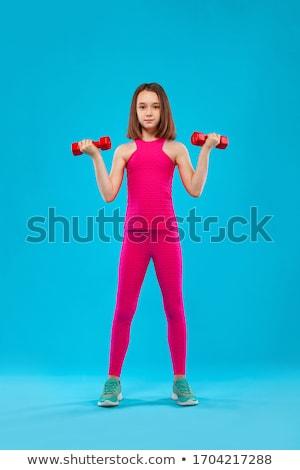 Girl doing fitness Stock photo © UrchenkoJulia
