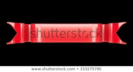 Czerwony wstążka przydatny odznakę godło czarny Zdjęcia stock © Arsgera
