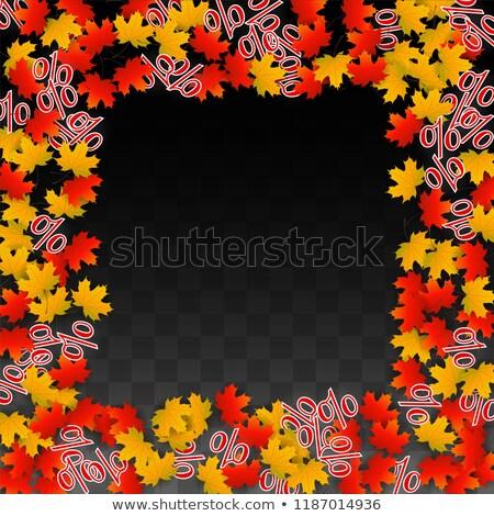 ősz vásár rajzolt szalag 30 százalékok Stock fotó © marinini
