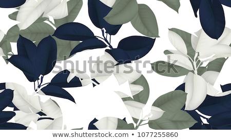 Azul floral sem costura papel de parede padrão Foto stock © zybr78