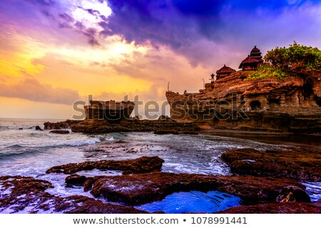 Mar templo bali o melhor rocha costa Foto stock © searagen