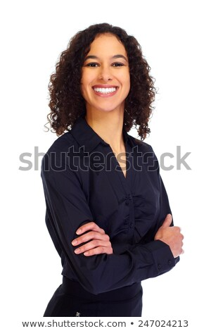 métis · femme · d'affaires · isolé · blanche · affaires · fille - photo stock © feverpitch