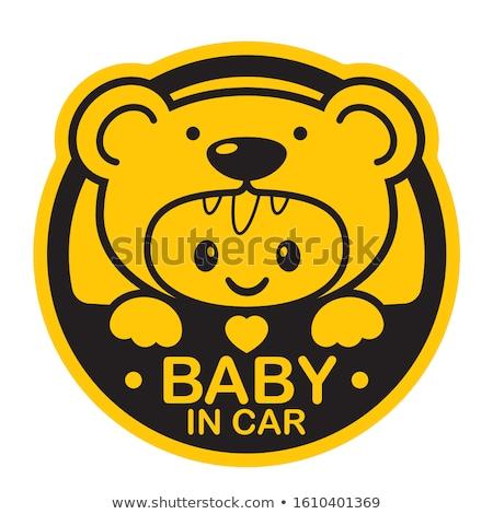 baby on board yellow warning sign stock photo © lordalea