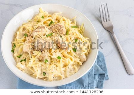 Poulet pâtes poitrine de poulet bourré fromages cuisine Photo stock © artlens