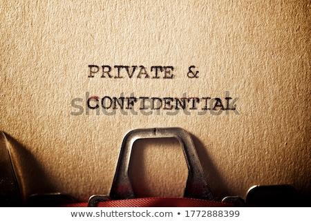 Confidential title on old paper Stock photo © stevanovicigor