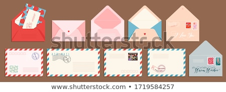 Postal Envelopes With Greeting Card. Stock photo © HelenStock
