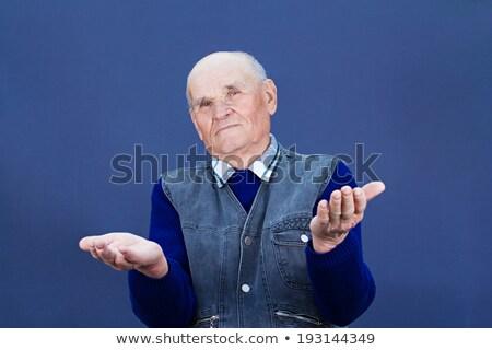 boldogtalan · férfi · kezek · kérdez · közelkép · portré - stock fotó © ichiosea
