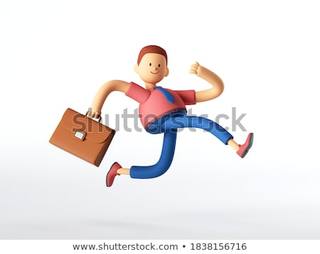 Stock photo: 3d man running