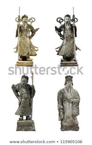 Beroemd buddha tempel Bangkok gezicht aanbidden Stockfoto © meinzahn