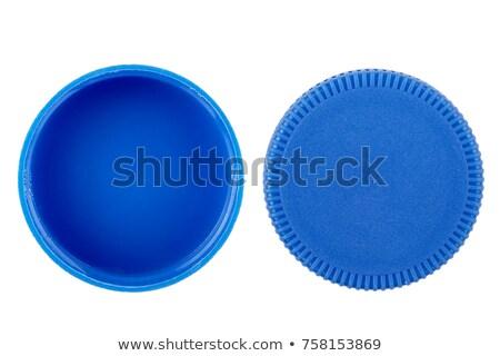 mavi · şişe · tam · kare · görmek · plastik · arka - stok fotoğraf © emirkoo