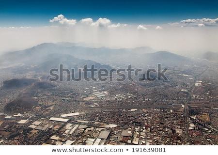 Widok z lotu ptaka górskich Meksyk Meksyk niebo Zdjęcia stock © bmonteny