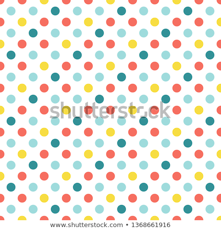 abstract geometric retro polka dot background - vector illustration Stock photo © sdmix