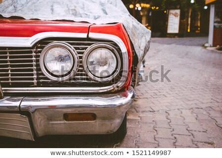 Eski klasik araba gizlenmiş garaj paslı Stok fotoğraf © lucielang