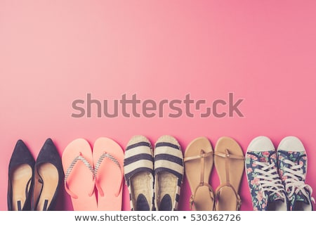 Femme chaussures rose cuir isolé femmes Photo stock © cypher0x