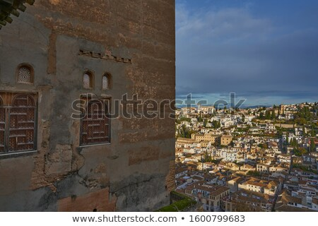 Alhambra Arch Granada Cityscape Churches Andalusia Spain Stock photo © billperry