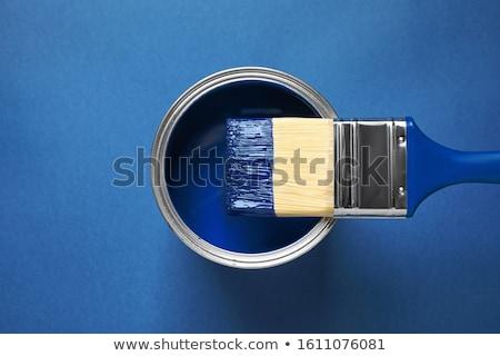 Kék festékes flakon izolált fehér festmény folyadék Stock fotó © gemenacom