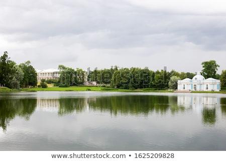 Landscape with  the 'Grot' pavillion in Pushkin garden. Stock photo © Pilgrimego