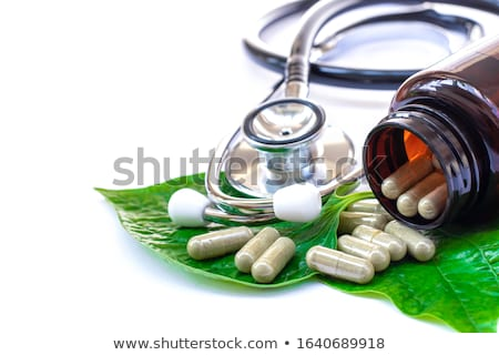 hólyag · orvosi · tabletták · gyógyszeripari · sztetoszkóp · zöld - stock fotó © atca