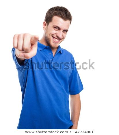 man pointing his finger at you Stock photo © dolgachov