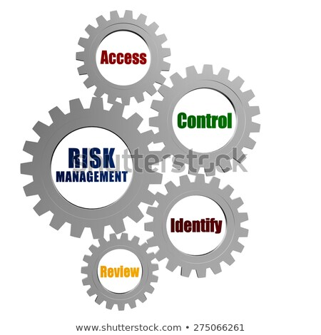 risk management in silver grey gears Stock photo © marinini