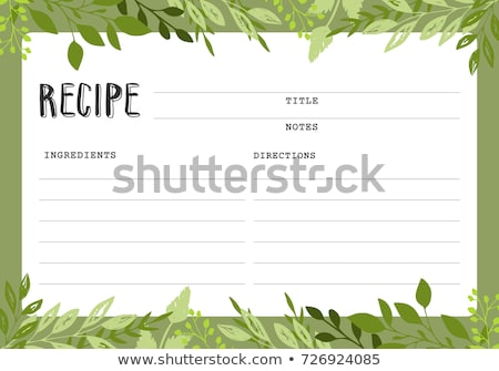 Blank Recipe Card Template Stock photo © Voysla